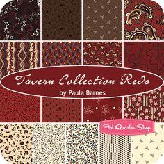 Tavern Collection Reds Fat Quarter Bundle Paula Barnes for Marcus Brothers Fabrics #FQSgiftguide #familyandfriends