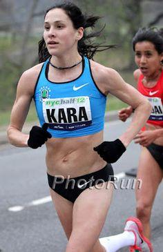 Kara Gourcher running the NYC Half in 2012.