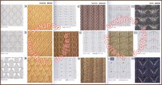 """This is a comprehensive Japanese knitting pattern book with 300 hand-knit stitches in """"twisting"""" styles, from the most basic to intricate, giving out tons of great inspirations to knitters! Description from ebay.com. I searched for this on bing.com/images"""
