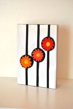 Elastic Bookmark Daisy bookmark felted by Lemiecreazionidarte