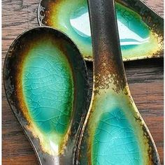 ceramic spoons - love the colours.  i need these colors as swatches to paint my bedroom suite!!!!!!!!