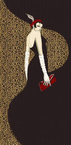 Illustration by Bing Bleu | Flapper Girl - Bing Liu's Illustration