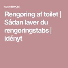 Rengøring af toilet   Sådan laver du rengøringstabs   idényt