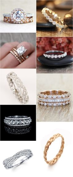 50 Coolest Wedding Bands for Women / http://www.himisspuff.com/wedding-bands-for-women/