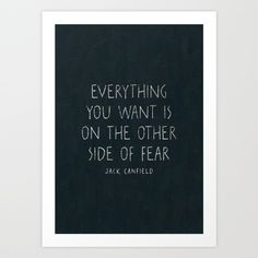 I. The other side of fear. Art Print by Zyanya Lorenzo | Society6