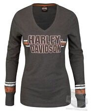 Harley-Davidson Womens Intense Fascination V-Neck Charcoal Long Sleeve T-Shirt in Clothing, Shoes & Accessories, Women's Clothing, T-Shirts Harley Davidson Shirts, Harley Davidson Posters, Motorcycle Style, Motorcycle Outfit, Biker Style, Motorcycle Fashion, Motorcycle Garage, Harley Apparel, Harley Davidson Kleidung