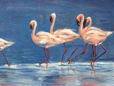 Flamingo Bay, oil. 2012.