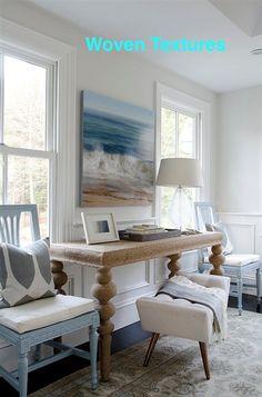 A Coastal Interior with a Unique Woven Table