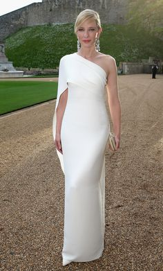 Column Gown -- with a modern neckline/sleeve twist - Ralph Lauren, featuring Cate Blanchett