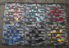 Minecraft Ores Perler Bead Coaster Set