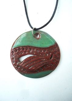 Pisces pendant. Birthday gift. Ceramic necklace. by ClayAna