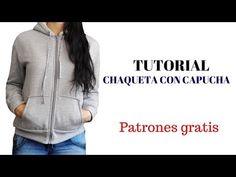 Chaqueta con capucha para mujer - Patrones gratis