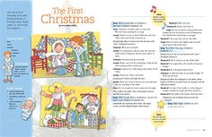For the children: Script and Songs to sing for a simple reenactment of the First Christmas. Children's nativity