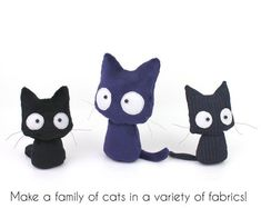 PDF sewing pattern Scaredy Cat stuffed animal 2 by TeacupLion #catsdiyplush