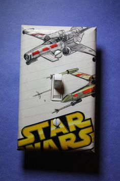 Star Wars Luke's X-Wing Light Switch Plate Cover by ComicRecycled