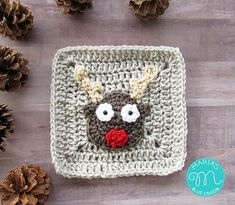 Ravelry: Rudolph Reindeer Granny Square pattern by Maria's Blue Crayon