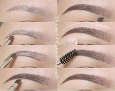 """Delineado de cejas...  Nota que primero estan depiladas """"Con maquina tamaño N2""""... se usa para bajar el nivel del cabello o el exceso"""
