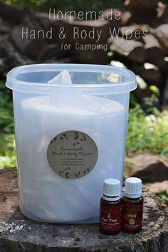When you're camping, sometimes a shower just isn't feasible. Homemade hand and body wipes are great for camping and spending time in the great outdoors. How to make your own hand and body wipes with a super easy recipe that uses water, body wash, and esse Camping Hacks, Camping Essentials, Camping Meals, Tent Camping, Camping Gadgets, Camping Stuff, Rv Hacks, Camping Guide, Camping Supplies