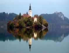 Lake Bled is a glacial lake that lies in the municipality of Bled, located in northwestern Slovenia