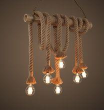 6 lâmpadas de Edison luz de bambu luzes pingente corda lâmpada sótão vindima personalidade criativa lâmpada de iluminação Industrial(China (Mainland))