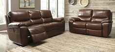 """2 pc Penache collection metal colored leather match upholstered sofa and love seat set with power motion recliners on the ends. This set includes the sofa and the love seat with recliners on the ends. Sofa measures 89"""" x 39"""" x 41"""" H. Love seat measures 66"""" x 39"""" x 41"""" H. Some assembly required."""