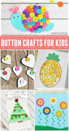 These fun button crafts for kids are a creative and colorful way to keep your family busy and to recycle old items!