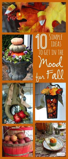 10 Simple Ideas to Get In the Mood for Fall: Fall Craft Ideas, Recipes and Decorating