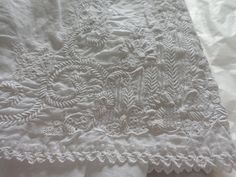 Whitework embroideries:  exhibition from the RSN Collection held from May to December 2015.  RSN-Royal School of Needlework, Hampton Court Palace, Surrey, UK