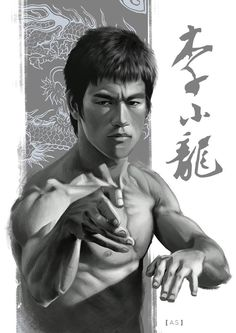 ArtStation - The Chinese Dragon - Bruce Lee, Allan Santos Bruce Lee Kung Fu, Bruce Lee Art, Bruce Lee Martial Arts, Bruce Lee Poster, Bruce Lee Pictures, Rick Y Morty, Enter The Dragon, Kino Film, Little Dragon