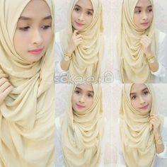 Wearing hijab fashion of SakeeNa #sakeena #sakeenaid #sakeenahijab #hijabeena visit https://twitter.com/hijabeena