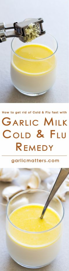 Garlic milk remedy with honey for cold & flu might not be the tastiest home remedy out there, but it works. If you are looking for cold & flu remedy and want to know how to get rid of them fast try this recipe. There are some important notes, which will help you get it right and get better within 24h. I'm old and grey now, but still give my mom's garlic milk recipe as can't find anything more effective to fight off seasonal infections naturally.