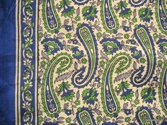 Indian Jaipur Cotton Paisley Hand Block Printed / Stamped Border Fabric by Yard via Etsy