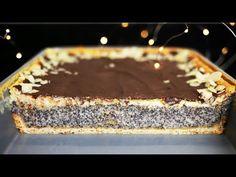 Makowiec ze śmietankową pianką - YouTube Desserts, Recipes, Food, Raspberries, Pies, Bakken, Tailgate Desserts, Deserts, Recipies