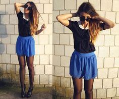 Pixie Collar Shirt, Asos Scalloped Shorts, Nelly.Com Heels