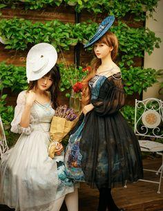 fanplusfriend - Quantity Limited: Enchanted Forest, Classic Lolita False 2pcs Real Silk Dress