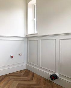 Dining Room Paneling, Stair Paneling, Bathroom Paneling, Bathroom Wall Panels, Bathroom Interior, Wall Panelling, Paneling Walls, Wainscoting, Dado Rail Hallway
