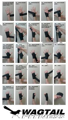 Short guide which outlines a fast and secure way to wrap the hands for boxing — Good to know for when I start wrapping in kickboxing