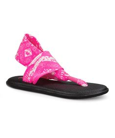 Look what I found on #zulily! Hot Pink Tribal Yoga Sling 2 Prints Sandal - Women #zulilyfinds