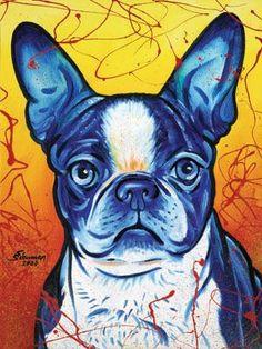 The Artwork of Steven Schuman :: Gallery : Animals Animal Paintings, Animal Drawings, Art Drawings, Dog Pop Art, Dog Art, Kids Art Class, Rainbow Art, Pallet Art, Pet Portraits