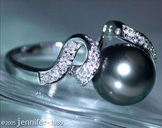 Aparter Tahitiperle Brillanten Ring » Juwelier Schmucktraeume.com