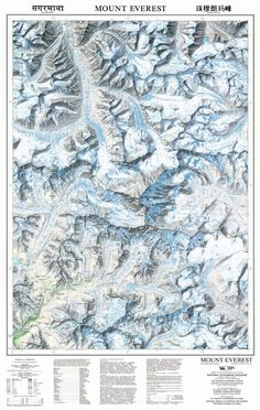 Map Mount Everest