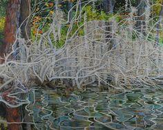 Bone Trees, Reflections by Elizabeth Bradford  Acrylic on Canvas