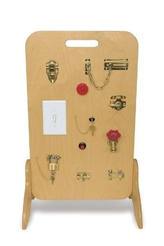 Locks and Latches Activity Board teacher's choice - DIY for outdoor toddler area