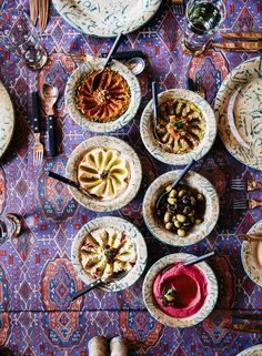 A spread of traditional mezes