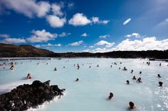 Blue Lagoon geothermal open air spa pool in Iceland. Image by Mark Whitaker