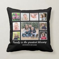 6/26/2021 Designer Throw Pillows, Family Quotes, Custom Pillows, Collage, Monogram, Make It Yourself, Frame, Fabric, Picture Frame