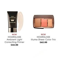 NEW @sephora @hourglasscosmetics  _ Ambient Light Correcting Primers available in 3 shades $44 each (luminous light _ mood light _ dim light) A light correcting primer to blur, smooth, and perfect the skin for a soft, subtle glow.  _ #limmitededition Illume sheer color trio ( bronzer _blush _ highlighter ) $62  #makeupnews #cosmeticsnews #melodys_world #limmitededitionmakeup #hourglasscosmetics #hourglass #bronzer #primer #corrector #highlighter #perfectskin #lovemakeup #wakeupandmakeup…