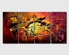 Modern Original Acrylic Painting Abstract Art and Wall Decor Seascape Paintings, Landscape Paintings, Acrylic Painting Canvas, Painting Abstract, Paintings For Sale, Original Paintings, Sailboat Painting, Virtual Art, Texture Art