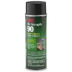 3M Spray Adhesive 90-24, 17.60 oz (500 g). Excellent adhesive for securely bonding decorative laminates and wood moldings to tables, cabinets, shelving and furniture. Bonds metal kick plates to doors and furniture. Bonds metal drywall corner beading. Adheres polyethylene plastic and polypropylene plastic to most surfaces. Attaches plastic sign lettering.