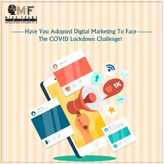 Haven't gone Digital yet? Get ready for facing Lockdown with out facing hit on your business. Adopt Digital Marketing to retain your customers and reach out to more. Online Marketing, Digital Marketing, Friday Motivation, Google Ads, Search Engine Optimization, Adoption, Advertising, Challenges, Branding